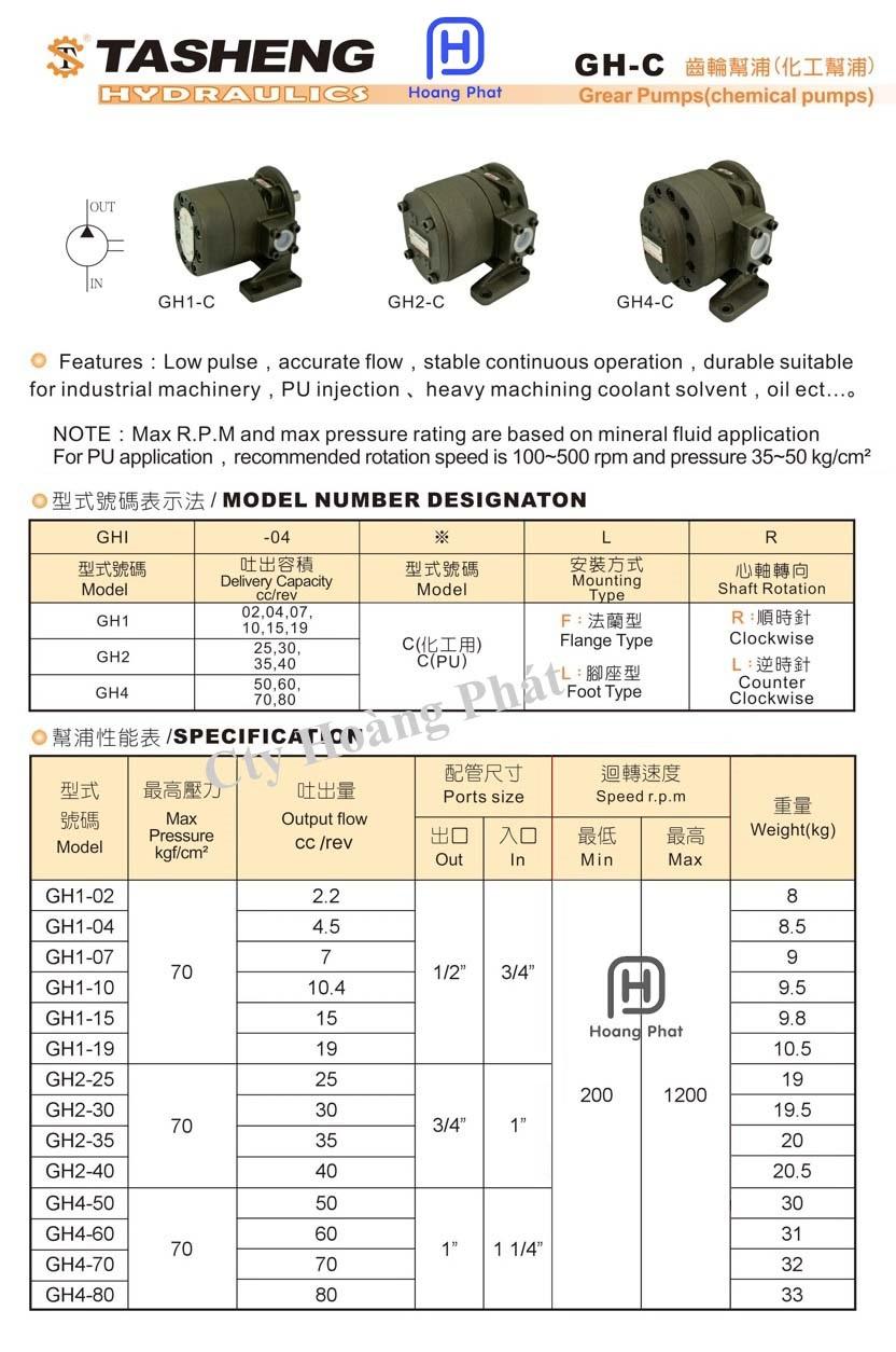 Tasheng pumps gear